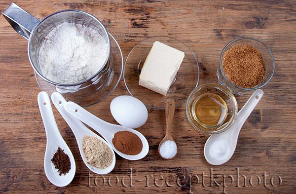 Игредиенты для имбирного печенья