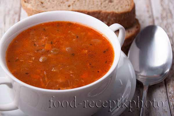 Суп из зеленой чечевицы