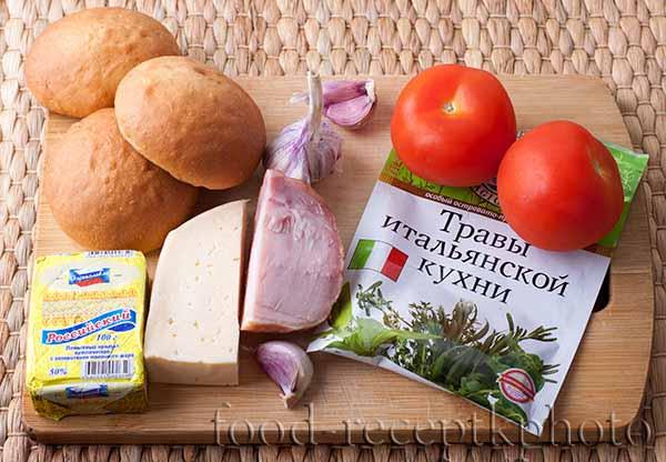 Ингредиенты для булочек мини-пиццы