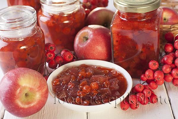 Варенье из рябины и яблок