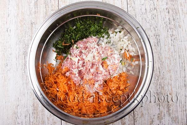 Смесь для котлет из мяса с овощами