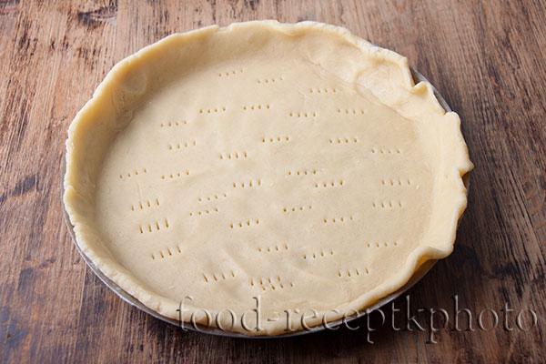 Тесто в форме для пирога