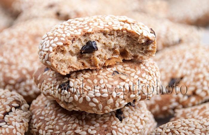 Овсяное печенье крупным планом