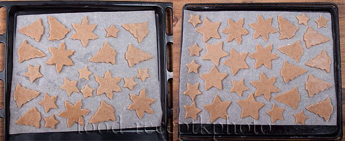 имбирное печенье на противне