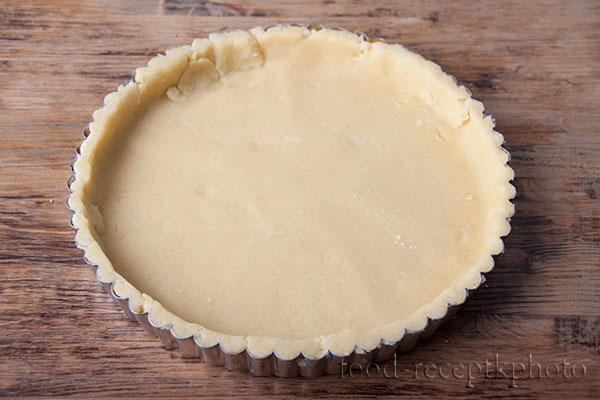 На фото тесто в форме для выпечки