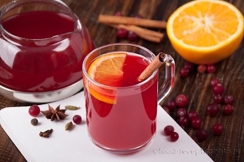 Клюквенный чай со специями
