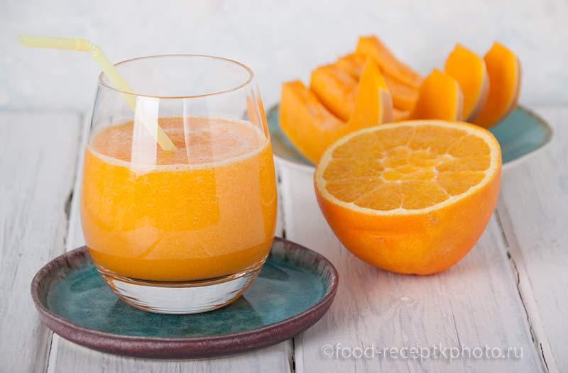 Сок из тыквы с апельсиновым соком