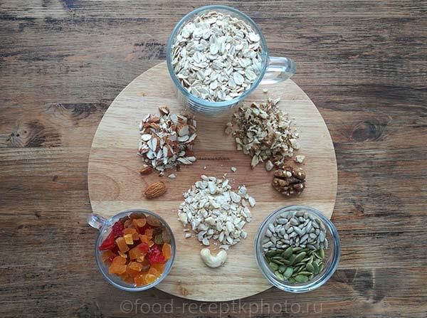 Домашняя гранола - ингредиенты