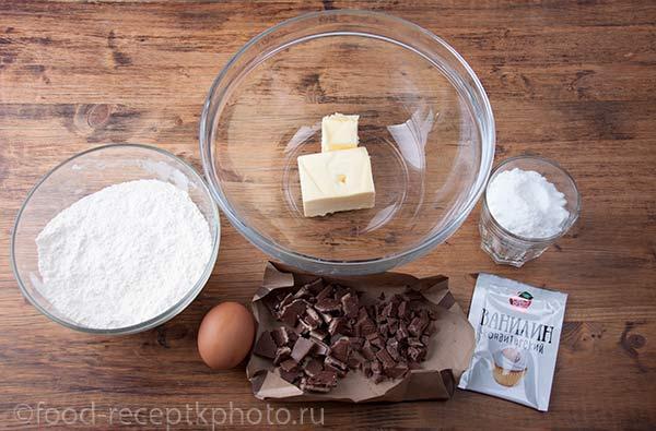 Ингредиенты для шоколадного печенья