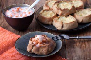 Калитки с картошкой и копченым лососем