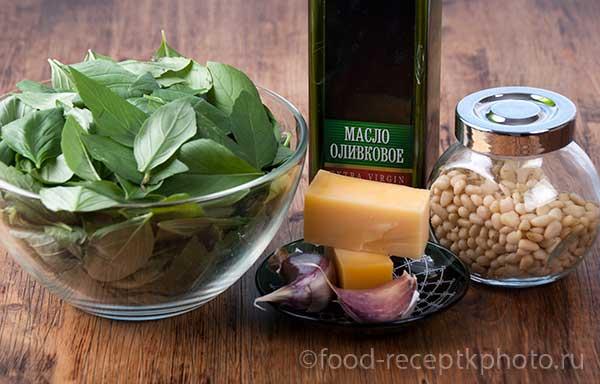 ингредиенты для соуса песто из базилика