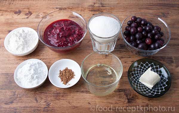 Ингредиенты для пирога с крыжовником