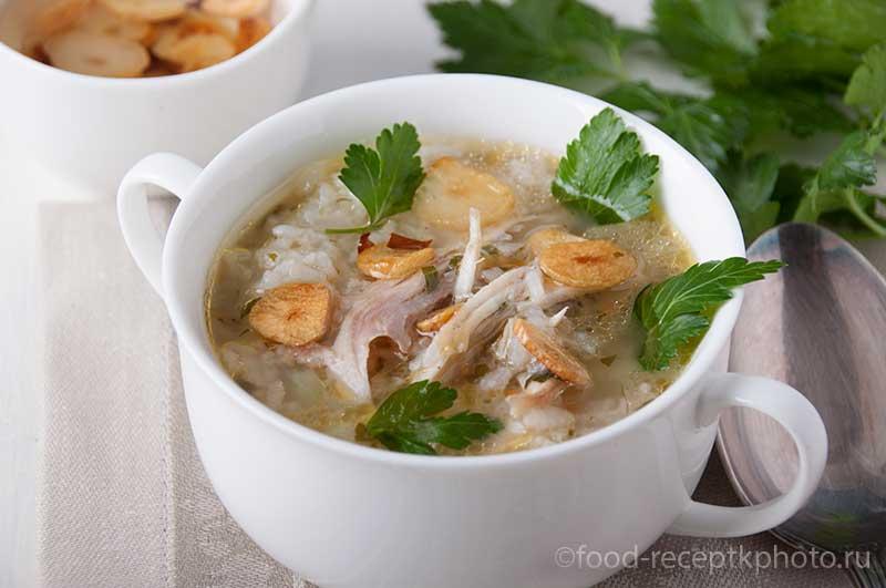 Куриный рисовый суп